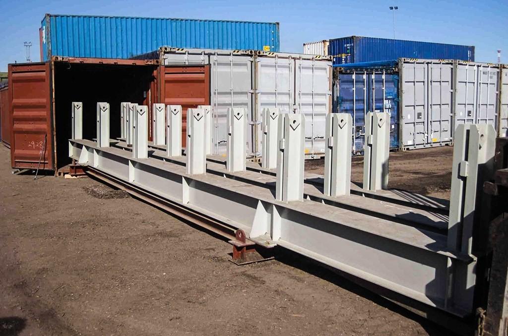 Transportation of steel constructions