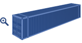 45 ft  High Cube Pallet Wide container