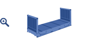 20 ft Flat Rack container