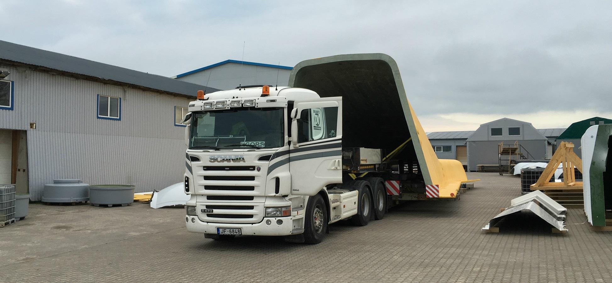 Notre dernier Projet Cargo: Construction de fibres de verre
