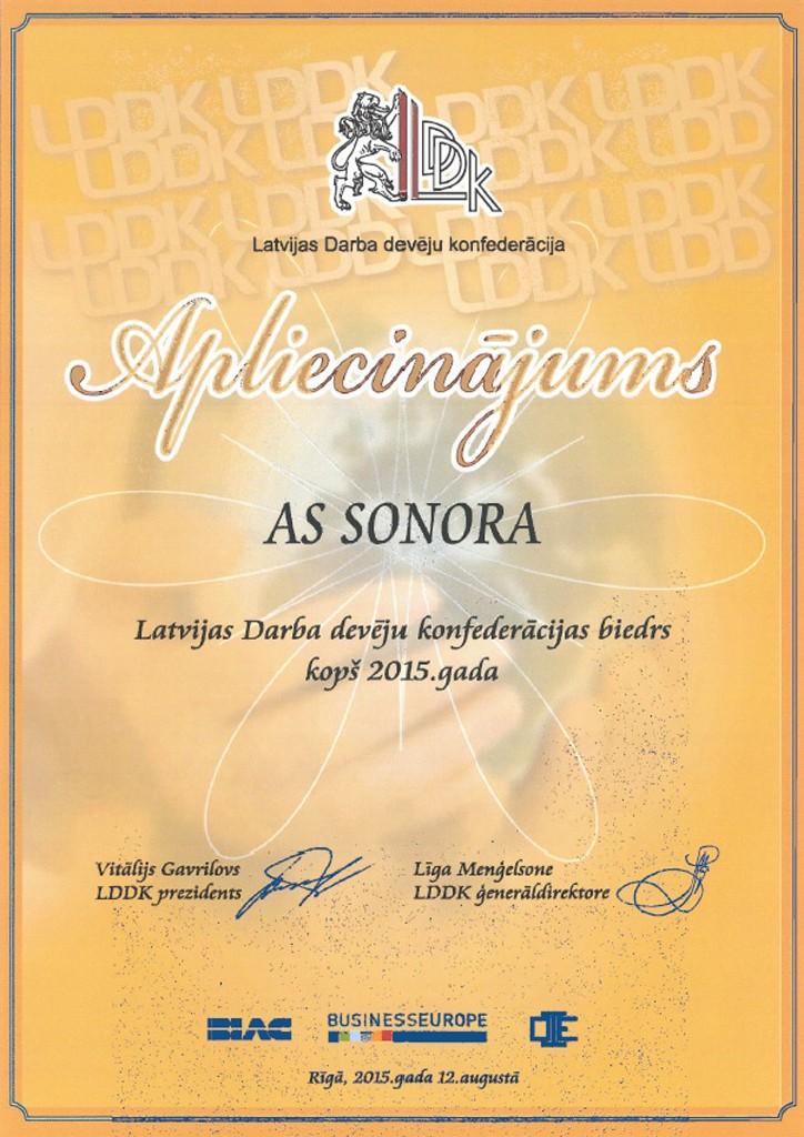 LDDK sertifikāts