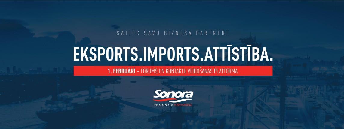 Konference Imports. Eksports. Attīstība. SONORA